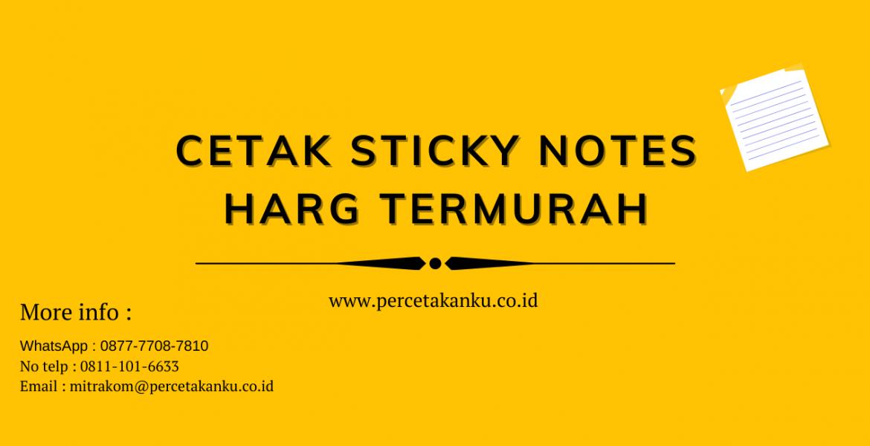 Cetak sticky notes harga termurah