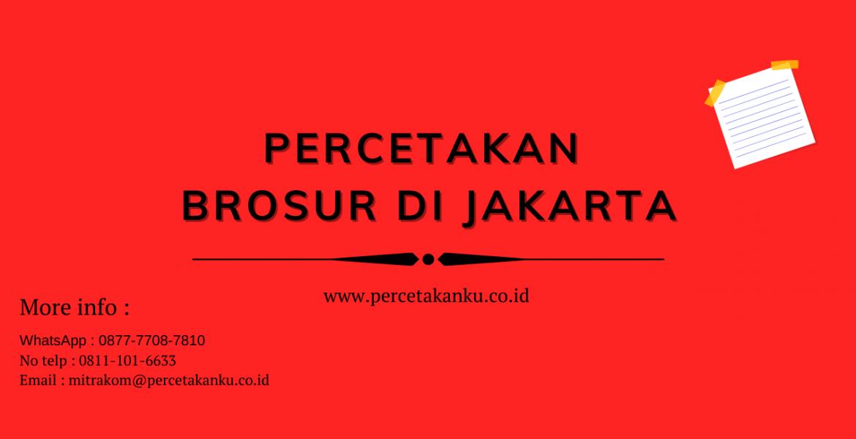 Percetakan Brosur di Jakarta