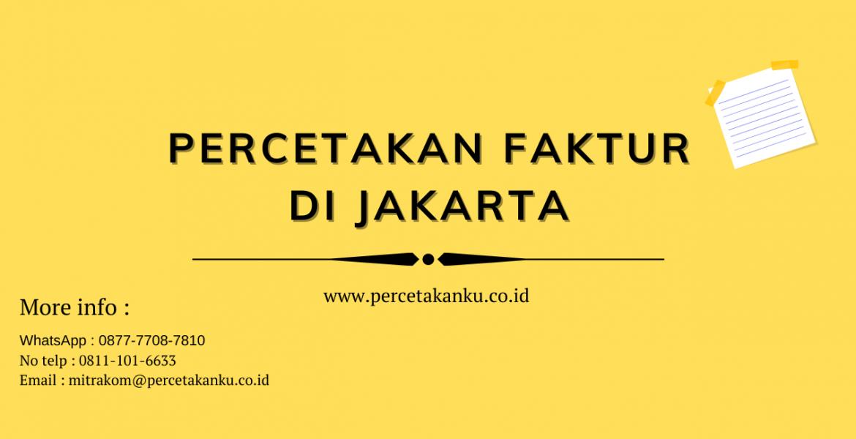 Percetakan Faktur di Jakarta