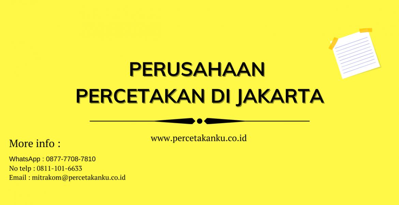 Perusahaan Percetakan di Jakarta